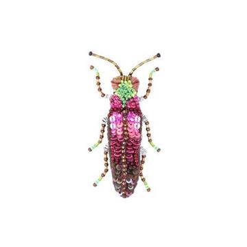 Pink Jewel Beetle Broche fra Trovelore