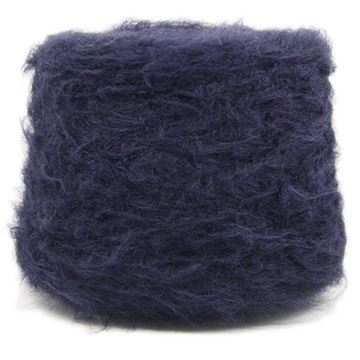 Brushed Mohair Lux Navy 2