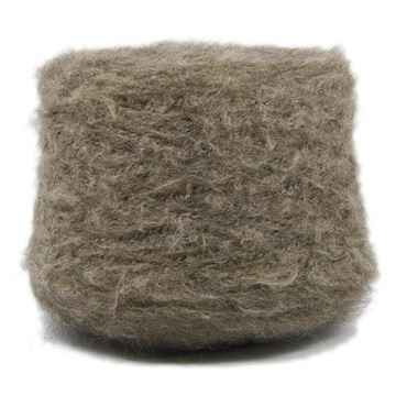 Brushed Mohair Lux Dark Sand 6
