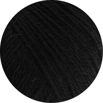Cool Wool Alpaca fra LANA GROSSA - 014 Sort