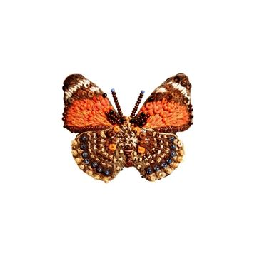 Claudina Orange Butterfly Broche fra Trovelore